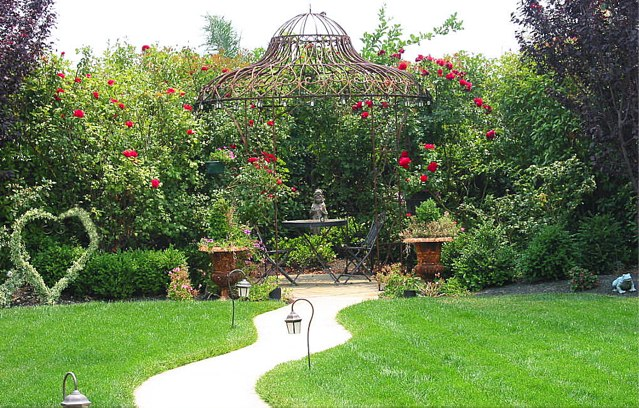 Landscape gazebo garden