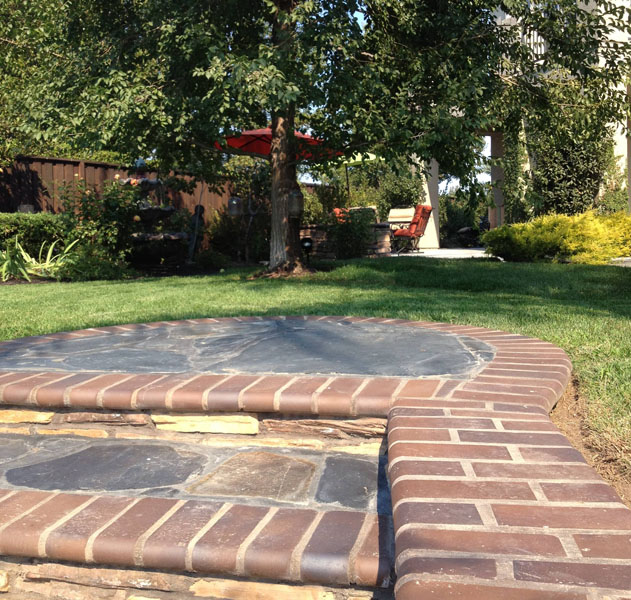 walkway, lawn, and patio